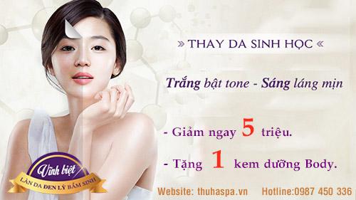 Tắm trắng toàn thân an toàn và hiệu quả tại Thu Hà Spa.
